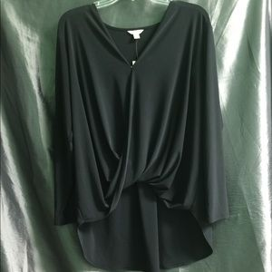 NWT High Low Blouse by Cato in Black.